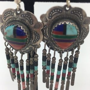Jewelry - Native Sterling Signed American Earrings